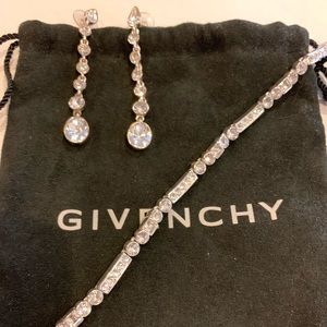 Givenchy earrings and bracelet
